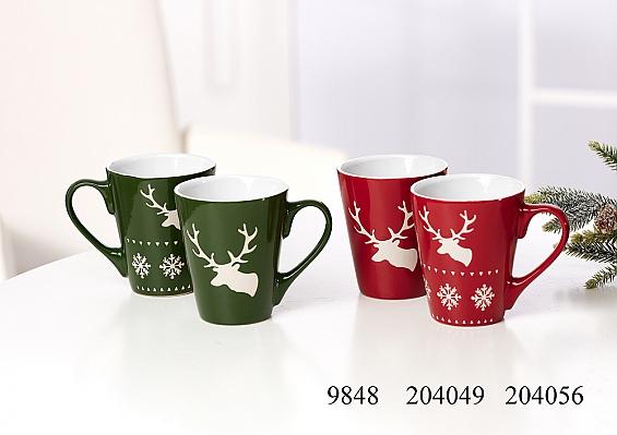 Weihnachtsbecher Xmas green / red