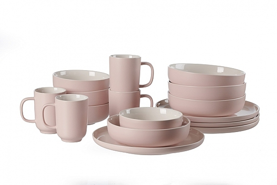 Geschirr-Serie Jasper rose 2er-Set Servierschalen rose