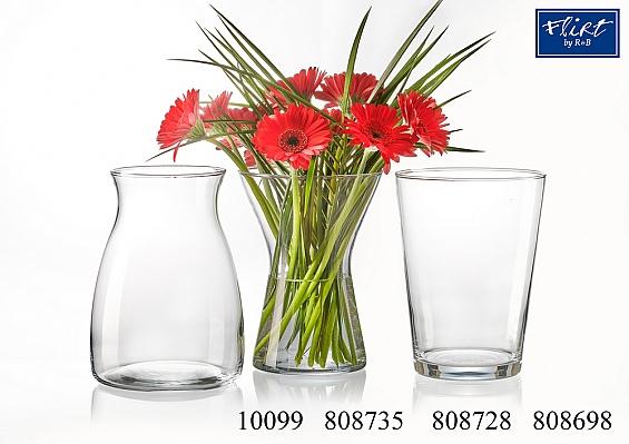 Glasvasen schlicht und klassisch