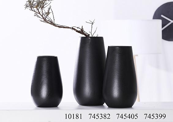 Vasenserie Finja schwarz