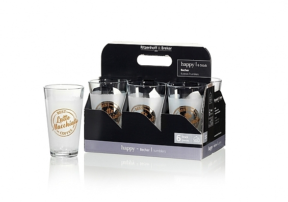 6er-Set Latte Macchiatobecher Happy Smell