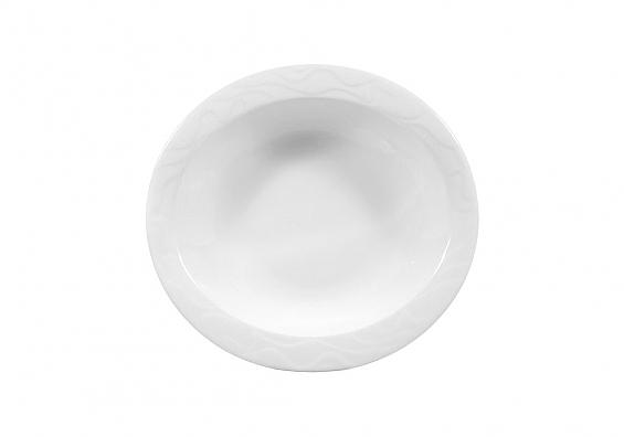 Schale oval hoch 21 cm Allegro weiß