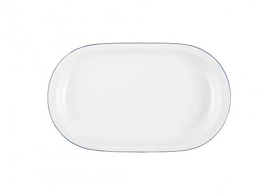 Servierplatte oval Compact Blaurand
