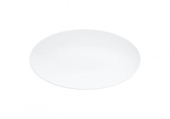 Servierplatte oval  Life weiß