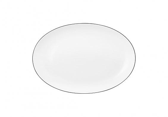Servierplatte oval Lido Black Line
