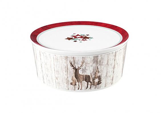Schale mit Deckel 21cm Life Christmas