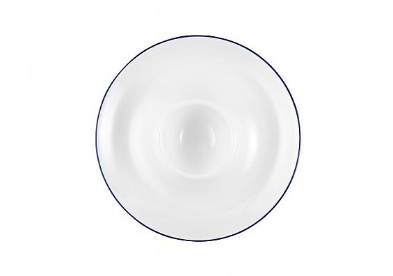 Geschirr-Serie Compact Blaurand 6er-Set Eierbecher mit Ablage