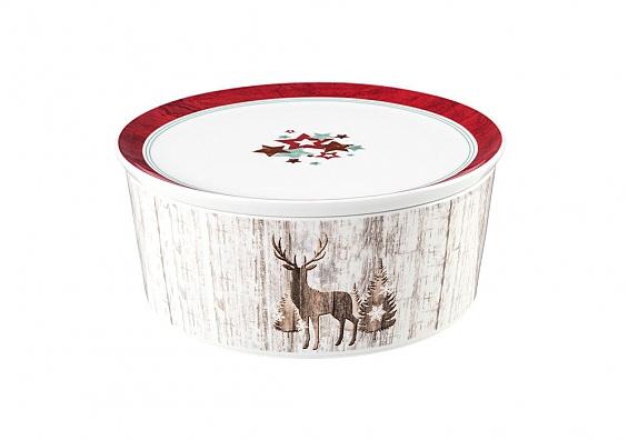 Weihnachtsgeschirr Life Christmas 2er-Set Schalen mit Deckel