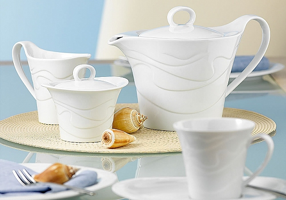 Kuchenteller oval Allegro weiß