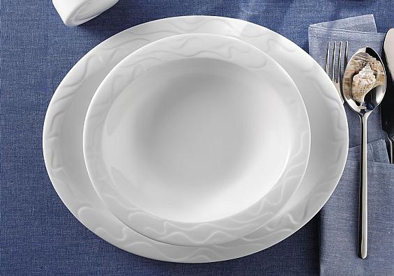 Speiseteller oval Allegro weiß